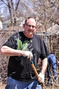 Raking, digging up brick - thank you!