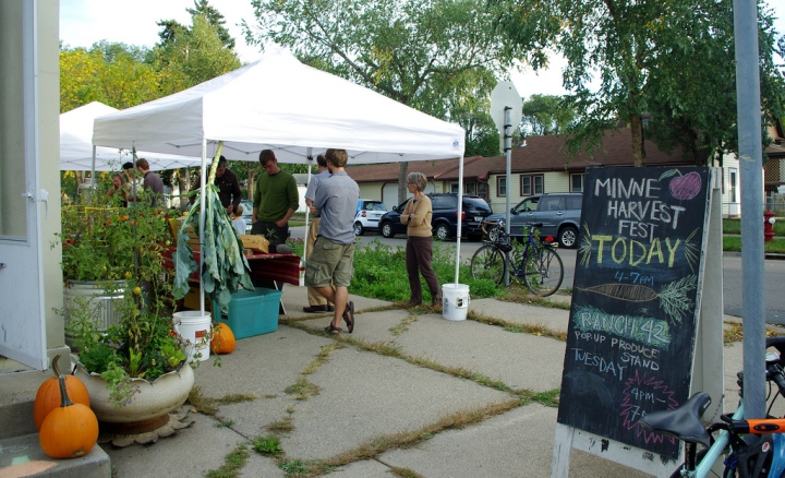 Pop-up Farmstand at 1st Annual MinneHarvest Festival.