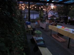 Night falls on last market